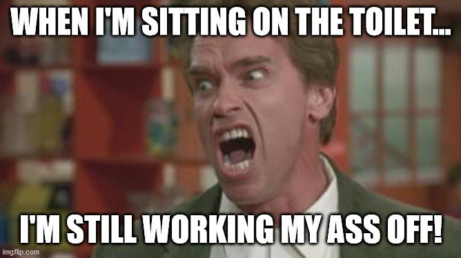 Arnold meme about work ethic